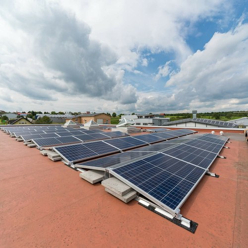 Solaranlage auf Flachdach